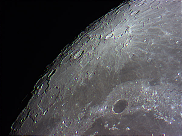 Flag On Moon From Telescope Using my 5-inch telescope