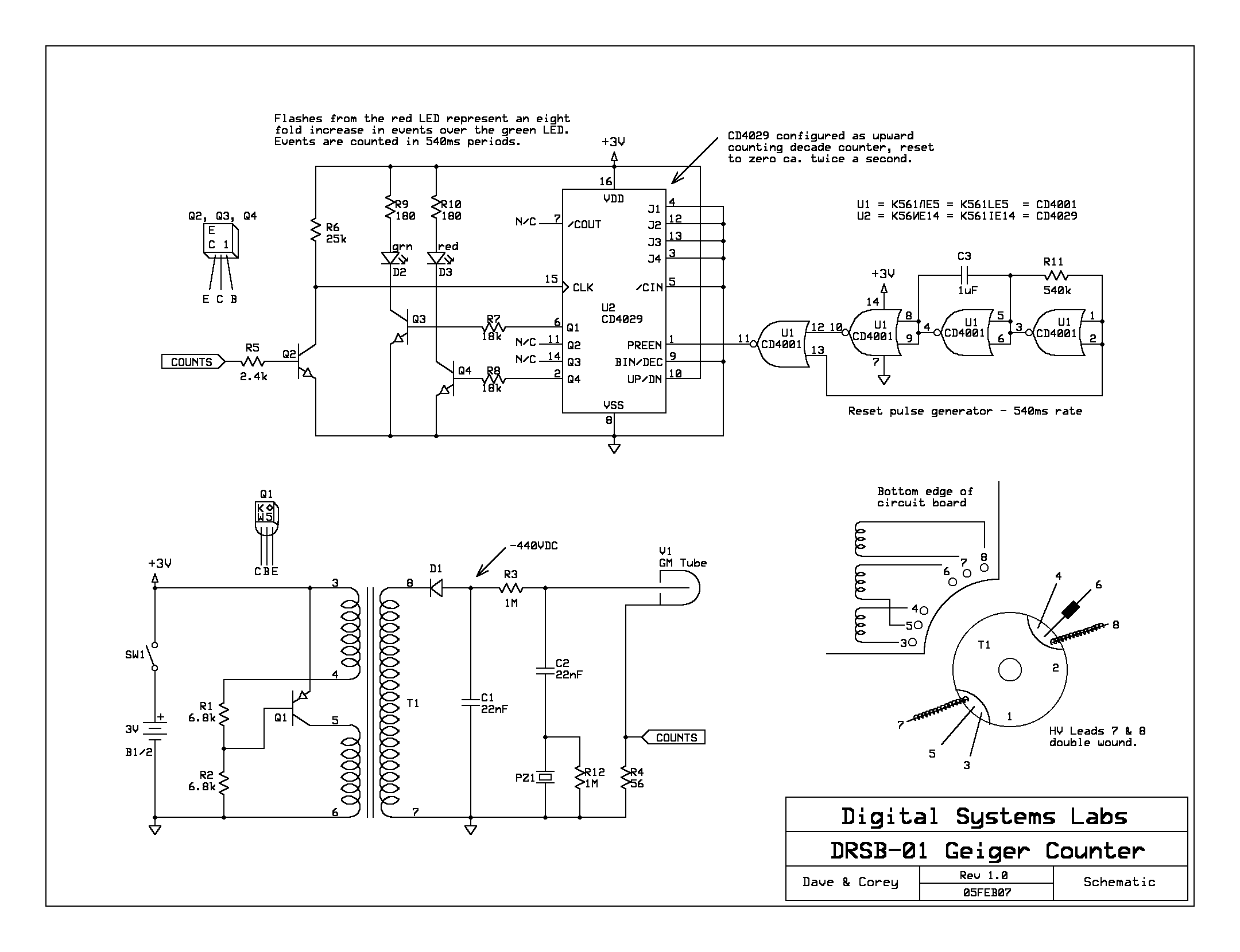 Michael Covingtons Daily Notebook Geiger Radiation Detector Diagram Printable Wiring Schematic Circuit